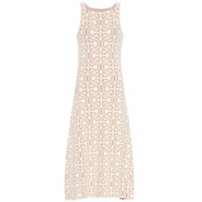 ジル サンダー Jil Sander レディース ワンピース ワンピース・ドレス Cotton-blend knit dress Light /Pastel Blue