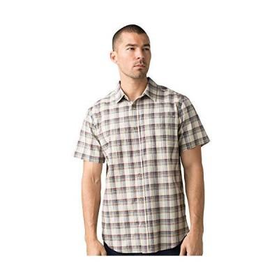 prAna - Mens Bryner Shirt, Dark Khaki, Small