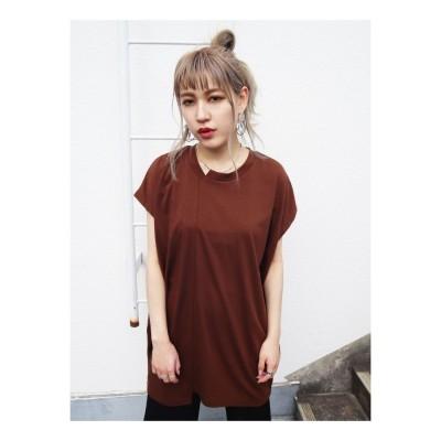 EMODA スリップオーバーTシャツ(ブラウン)