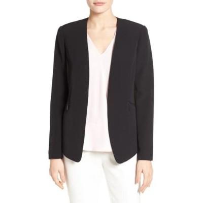 ヴィンスカムート レディース ジャケット&ブルゾン アウター Zip Pocket Blazer RICH BLACK