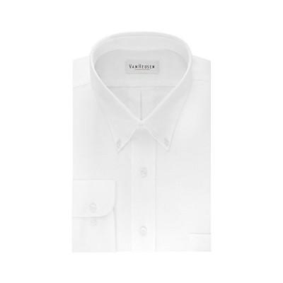 Van Heusen Men's Dress Shirt Regular Fit Oxford Solid Buttondown Collar, White, 3X-Large