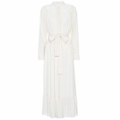 クロエ Chloe レディース オールインワン ワンピース・ドレス Long-sleeved crepe jumpsuit Iconic Milk