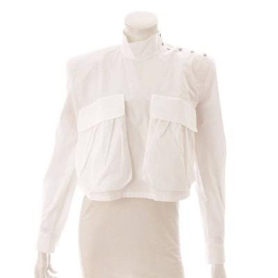 【フェンディ】Fendi ポケット ショート ブラウス トップス シャツ ホワイト 42 【中古】【正規品保証】120022
