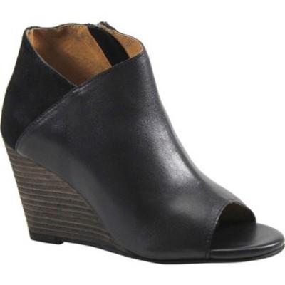 ディバトゥルー レディース ブーツ&レインブーツ シューズ In Sider Wedge Bootie (Women's) Black Leather/Suede