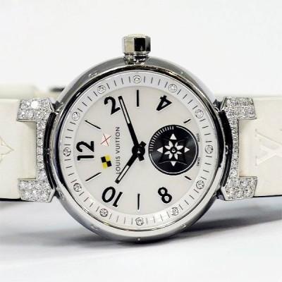 LOUIS VUITTON ルイヴィトン 12Pダイヤ タンブール ラブリーカップ ダイヤモンド PM ホワイトシェル レディース 時計