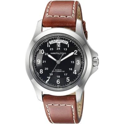 【送料無料】腕時計  Hamilton Men's H64455533 Khaki King Series Stainless Steel Automatic Watch with Brown Leather Band 輸入品