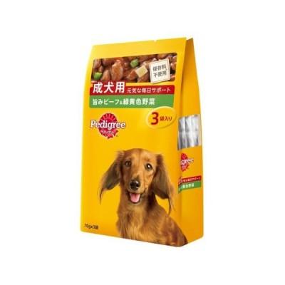 マースジャパンリミテッド マースジャパン P115 成犬用 ビーフ&野菜 70g×3 ドッグフード・成犬用