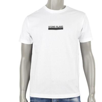 Stone Island ストーンアイランド SMALL LOGO ONE プリント Tシャツ/ホワイト/ 74152NS55  V0001