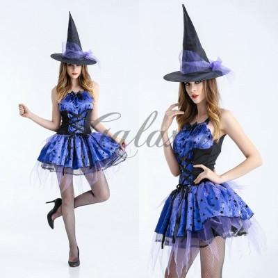 ハロウィン 魔女 デビル 小悪魔 魔法使い ウィッチ 中世ヨーロッパ風 ダンス パーティー コスプレ衣装 ps3165(ps3165)