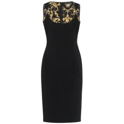 ヴェルサーチ Versace レディース ワンピース ミドル丈 ワンピース・ドレス stretch-crepe midi dress Nero