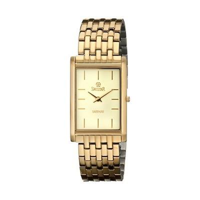 Swistar Men's 2.2203-M Gold-Plated Stainless Steel Watch with Link Bracelet 並行輸入品