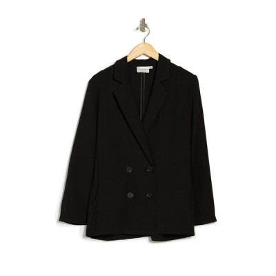 ラッシュ レディース ジャケット&ブルゾン アウター Double Breasted Blazer Jacket BLACK