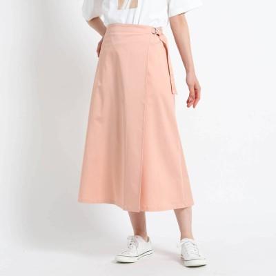 デッサン Dessin 【S~Lサイズあり・洗える】タックベルトミモレスカート (ベビーピンク)