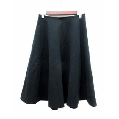【中古】ガリャルダガランテ GALLARDAGALANTE スカート フレア ミモレ ロング 1 黒 ブラック /MN レディース