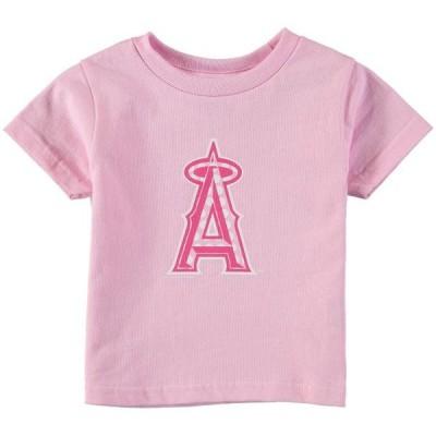 ガールズ スポーツリーグ メジャーリーグ Los Angeles Angels Soft as a Grape Toddler Girls Polka Dot Logo T-Shirt - Pink Tシャツ