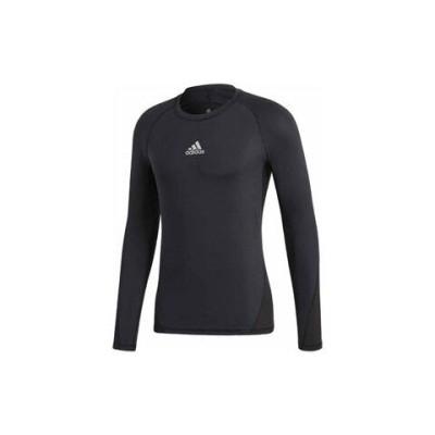 アディダス サッカー インナーウェア(ブラック・サイズ:J/S) adidas ALPHASKIN TEAM ロングスリーブシャツ AJ-EVN55-CW9486-J/S 【返品種別A】