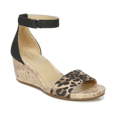 ナチュライザー サンダル シューズ レディース Areda Ankle Strap Wedges Black Cheetah
