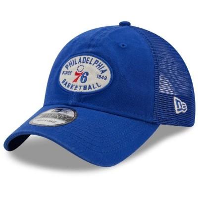 """ニューエラ メンズ キャップ """"Philadelphia 76ers"""" New Era Standard 9TWENTY Snapback Hat - Royal"""