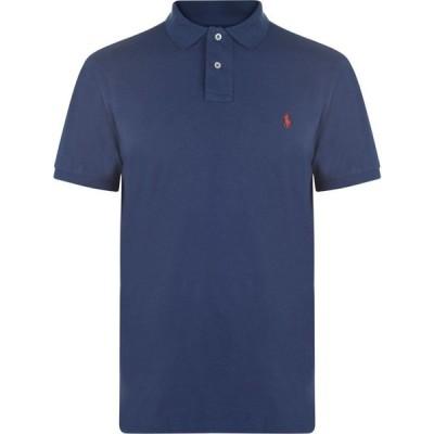 ラルフ ローレン Polo Ralph Lauren メンズ ポロシャツ トップス Custom Slim Fit Polo LightNavy/RedPP