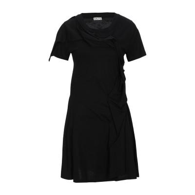 アールト AALTO ミニワンピース&ドレス ブラック 42 コットン 100% ミニワンピース&ドレス