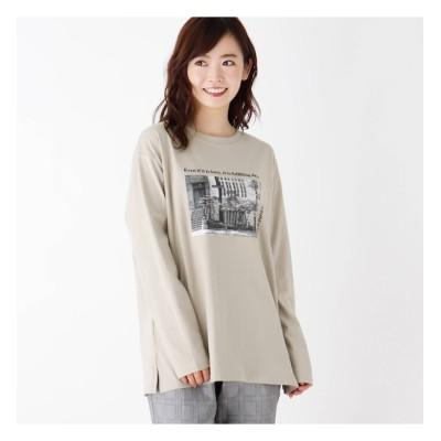【ピンクアドベ/pink adobe】 【WEB限定LL/3Lサイズあり】転写プリントロングTシャツ