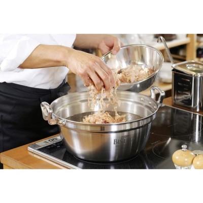 EBM ビストロ 三層クラッド 料理鍋 30cm