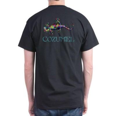 ユニセックス 衣類 トップス CafePress - Gecko Dark T Shirt - 100% Cotton T-Shirt Tシャツ