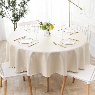 テーブルクロス ホテル レストラン ティーテーブ クロス 食卓カバー 撥水 防水 ファッション 耐熱 柔軟性 耐久性 円形 ラウンドテーブルクロス 円型 長方形
