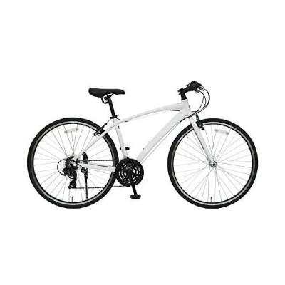 CHALINX リトルロック LITTLE ROCK 440mm アルミフレーム クロスバイク スポーツ自転車 (ホワイト)