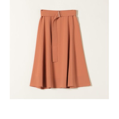SHIPS any:ベルトフレアスカート