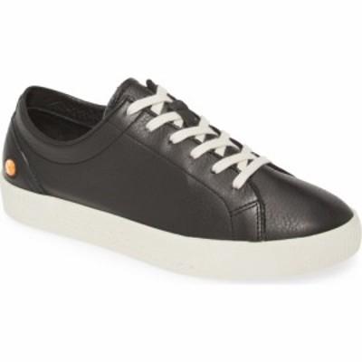 フライロンドン SOFTINOS BY FLY LONDON レディース スニーカー シューズ・靴 Fly London Sady Sneaker Black Smooth Leather
