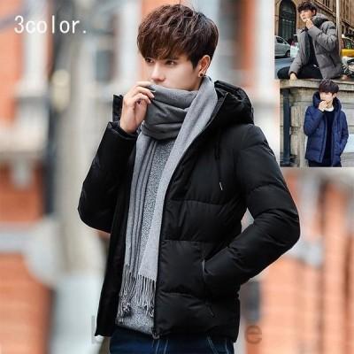 中綿ジャケット中綿コートメンズ帽子付きハイネック大きいサイズ中綿入りジャケットアウターブルゾン防寒アウトドア