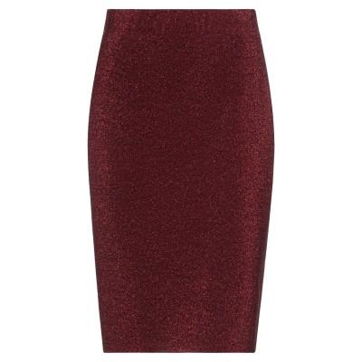 MAGGIE SWEET ひざ丈スカート レッド M ポリエステル 61% / レーヨン 28% / ナイロン 8% / ポリウレタン 3% ひざ丈