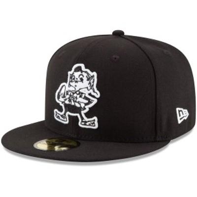 ニューエラ メンズ 帽子 アクセサリー Cleveland Browns New Era B-Dub 59FIFTY Fitted Hat Black
