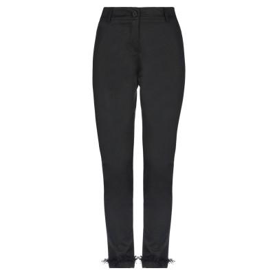 VIRGINIA BIZZI パンツ ブラック 42 コットン 97% / 指定外繊維(その他伸縮性繊維) 3% パンツ