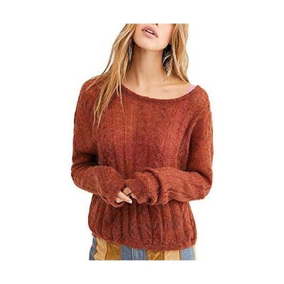 Free People Women's Angel Lightweight Pullover Sweater in Rich Earth Combo