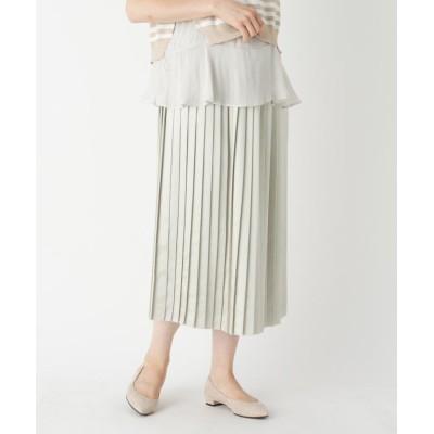 SUTSESO(スチェッソ) 【LIZA(リザ)】サテンプリーツロングスカート