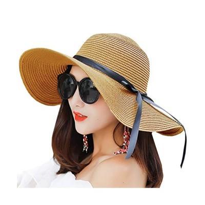 ONE LIMITATION(ワン リミテーション) ハット 帽子 麦わら おしゃれ つば広 セレブ 折りたたみ UV レディース CP034 (03