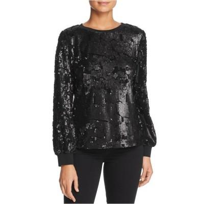 レディース 衣類 トップス Le Gali Womens Elisa Pullover Blouse Black Medium ブラウス&シャツ