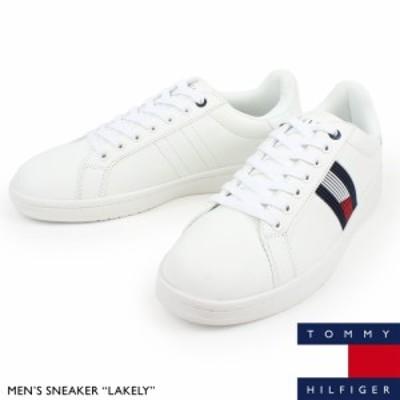 トミー ヒルフィガー TOMMY HILFIGER メンズ ローカット スニーカー LAKELY 靴 合成レザー カジュアル シューズ 大きいサイズあり