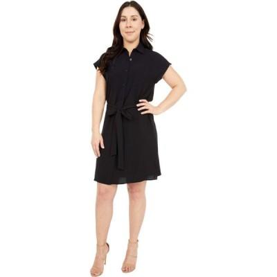 カルバンクライン Calvin Klein レディース ワンピース シャツワンピース ワンピース・ドレス Solid Belted Shirtdress Black