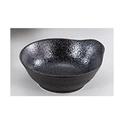 和陶オープン 和食器 / 新生黒マット水晶 呑水 寸法:14 x 13 x 5cm