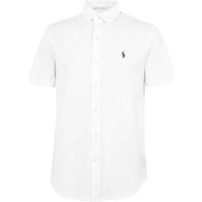 ラルフ ローレン Polo Ralph Lauren メンズ 半袖シャツ トップス Short Sleeve Mesh Shirt White