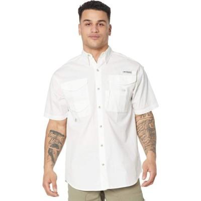 コロンビア Columbia メンズ 半袖シャツ トップス Bonehead(TM) Icon Short Sleeve Shirt White/USA Fish Flag Graphic