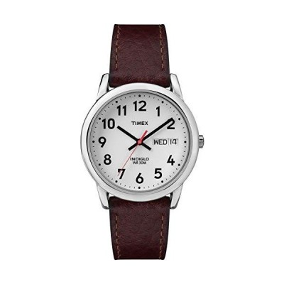 Timex Mens T20041 Easy Reader 35mm Brown Leather Strap Watch
