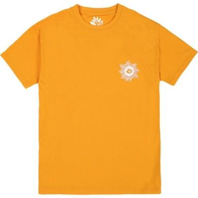 マジェンタ Magenta メンズ Tシャツ トップス Swirl Short Sleeve T-Shirt Yellow