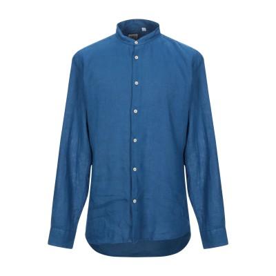 ドルモア DRUMOHR シャツ ブルー M 麻 100% シャツ