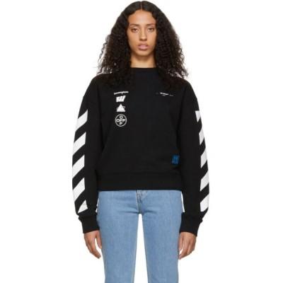 オフホワイト Off-White レディース スウェット・トレーナー トップス black diag mariana de silva over sweatshirt Black/Multi