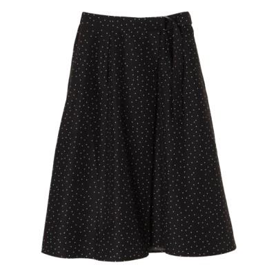 Green Parks (グリーンパークス) レディース 【chocol raffine robe】ラップドットギャザースカート ブラック F