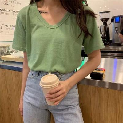 レディース 半袖Tシャツ シンプルTシャツ 無地Tシャツ